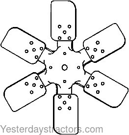 Ford Fan Blade, 6 Blade, Pusher for Ford 1801,1811,1821