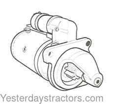 Case Starter Motor, RH Mount for Case