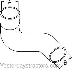 John Deere Air Cleaner Hose, Suction for John Deere 1020