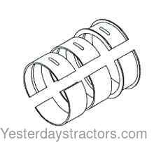 Ford Main Bearing Set. STD for Ford 1710,1910,2110,1900