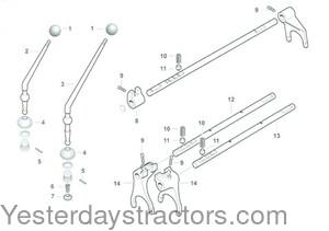 Ferguson TEA20 6 Speed Transmission Selector & Related