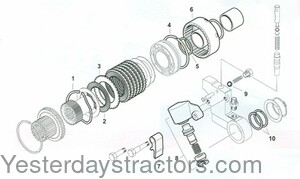 Massey Ferguson 265 Independent PTO Clutch Pack Parts