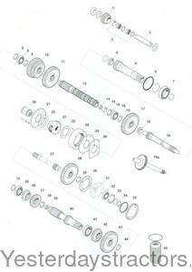 Massey Ferguson 8 Speed Constant Mesh Transmission Parts