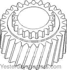 John Deere 2555 Transmission Countershaft Low Range Gear