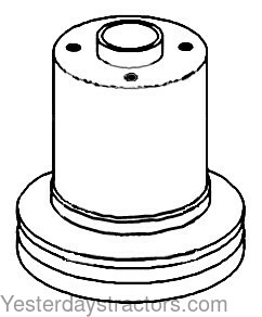 Oliver Water Pump Pulley for Oliver 1550,1555,White 2-44