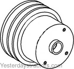 Oliver Water Pump Pulley for Oliver 1850,1550,1555,White 2