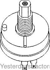 John Deere Light Switch, 12 Volt for John Deere 1010,1020