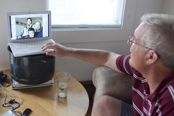 Mark Skypes with Jon from series Close to Home © Karen Davis