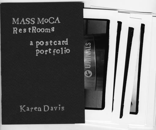 MASS MoCA Restrooms Postcard Portfolio by Karen Davis