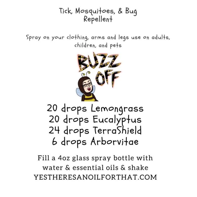 Ticks, mosquitoes, bugs, TerraShield, lemongrass, eucalyptus