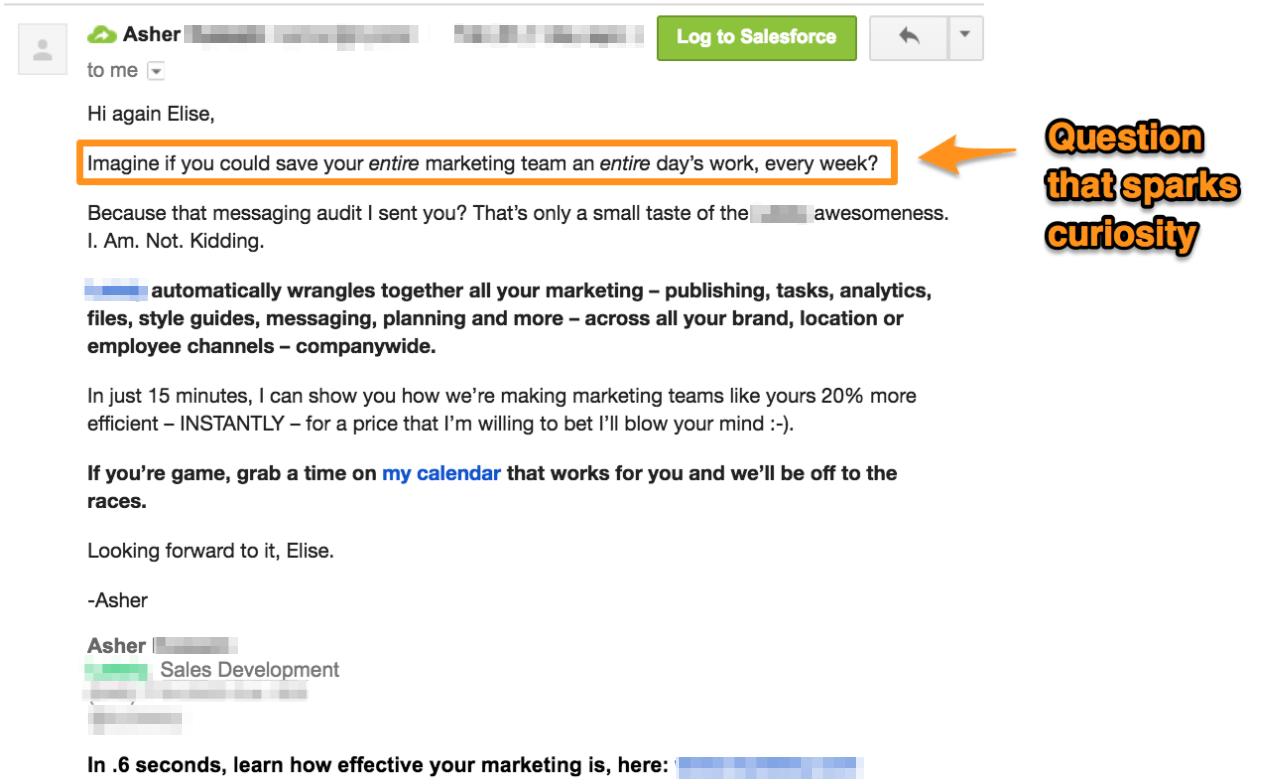 Sales Pitch Example - Pique Technique