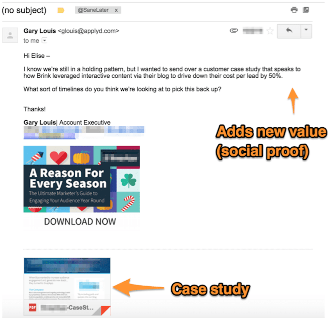 Circle Back Follow Up Email Template Example