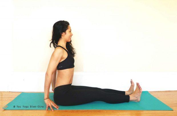 Dandasana la Posture du Baton par Yes Yoga Bien Etre
