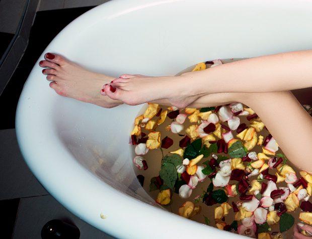 bain de fleurs rituel eau