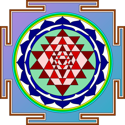 sri yantra pour concentration visuelle drishti