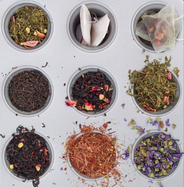 sélection de thé en feuilles