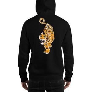 Pull capuche homme tigre