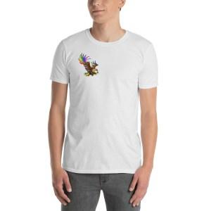 T-shirt Aigle Arc en Ciel avec ailes dans le dos