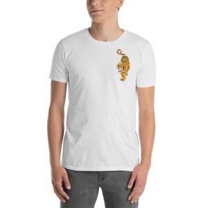 t-shirt imprimé tigre devant et derrière