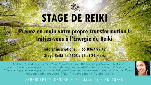 Stage de Reiki à Singapour