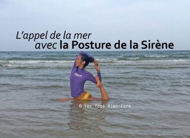 posture de la sirene yoga plage