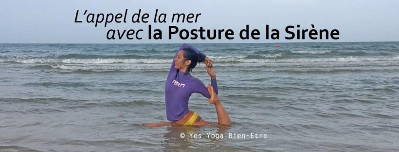 comment faire la posture de la sirene yoga plage