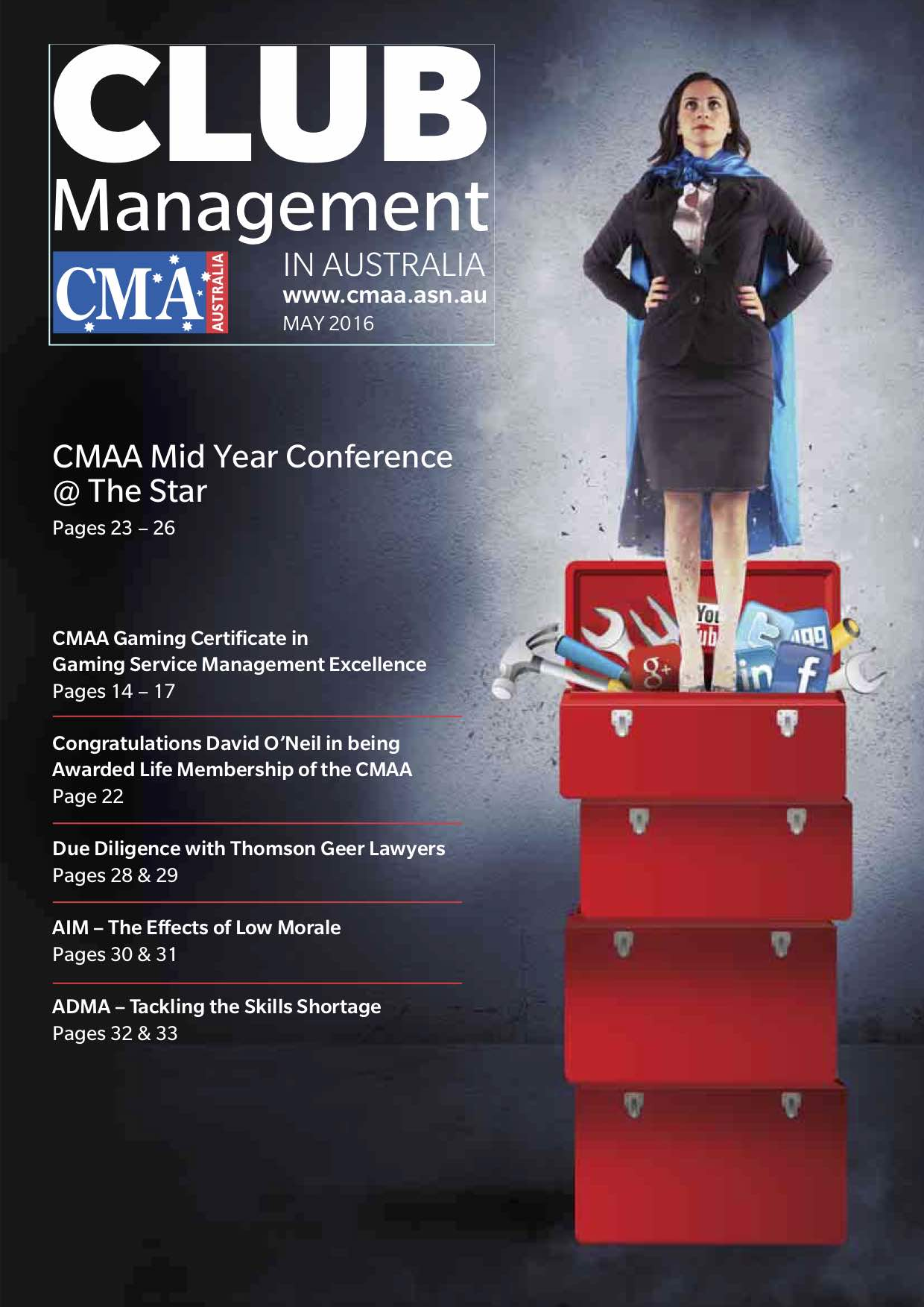 How to Source Images Legally for ADMA in CMA Magazine May 2016 Cover