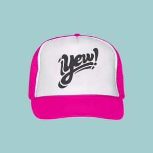 yew foam trucker hat pink