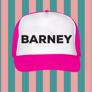 Barney Foam Trucker Hat Pink