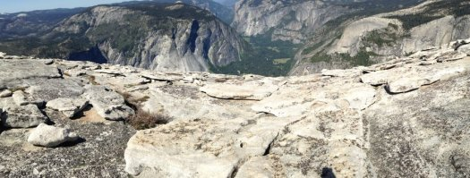Yosemite-HalfDome-Summit-Pano2-YExplore-DeGrazio-May2014