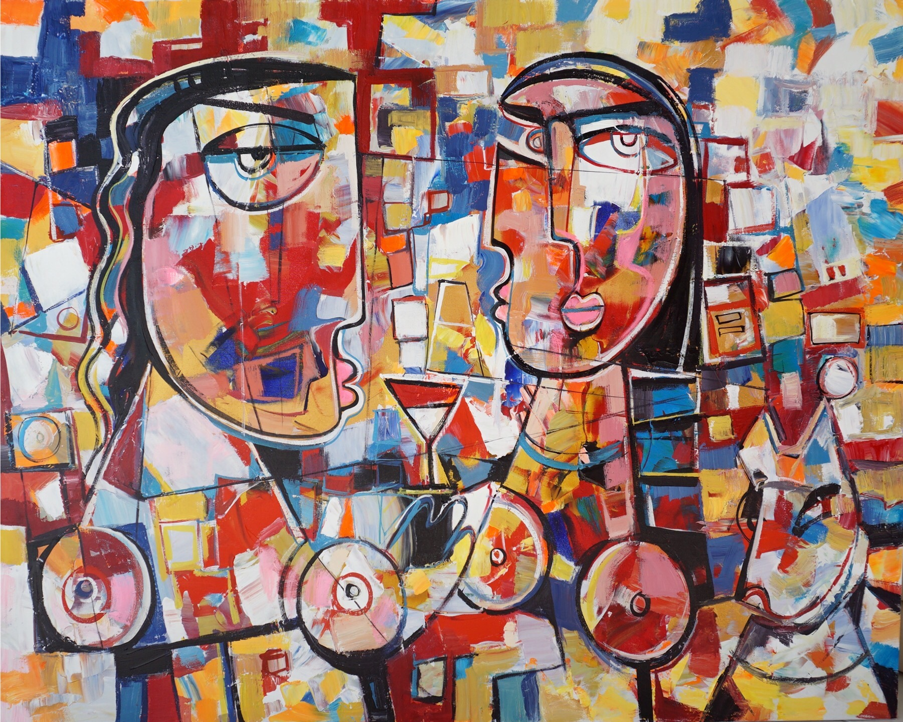Cubist Style And Neo Cubism Paintings For Sale