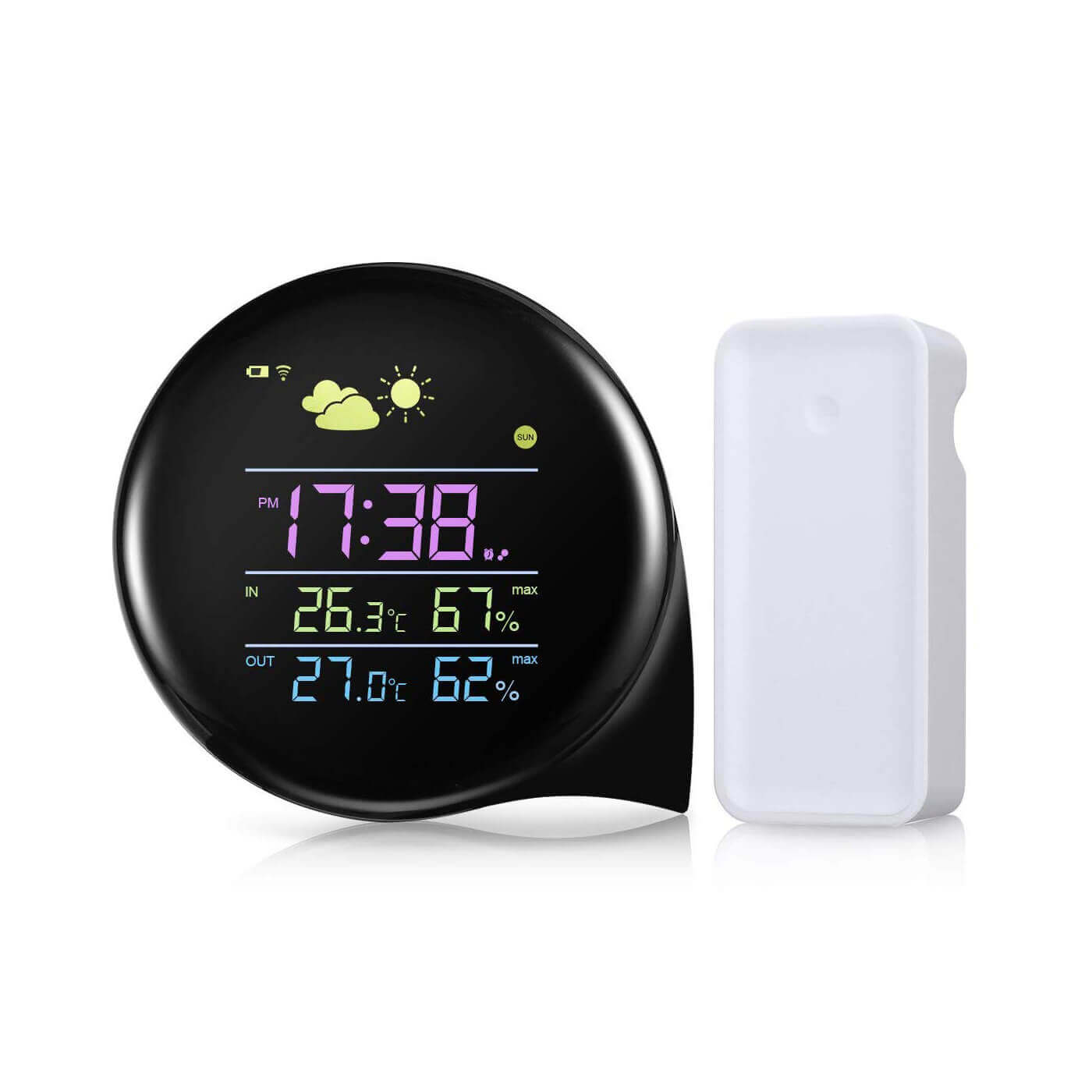 Automatic Outdoor Weather Stations For Home Rf 433mhz Wireless Weather Station Clock