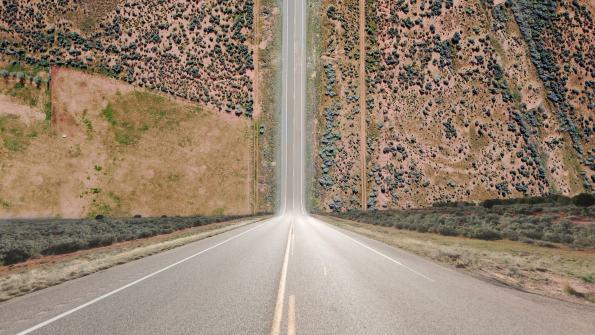 route pliée