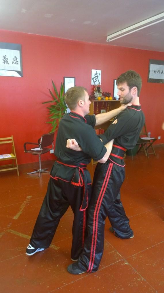 Sifu Warrender and Sifu Downie practicing together (June 2016)