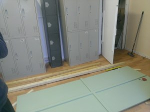 The side panels for the cubicles