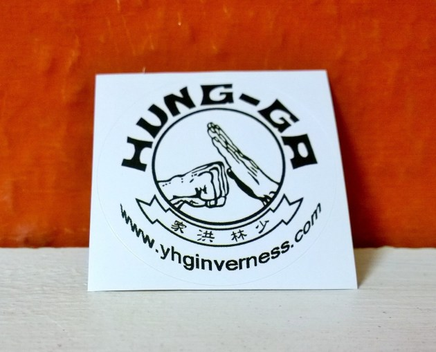 Free Inverness 'Yee's Hung Ga Kung Fu Academy' Sticker