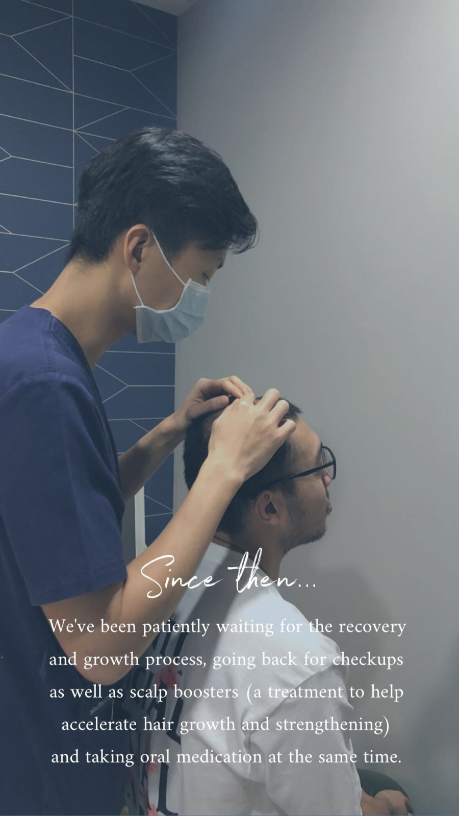 Hair transplant post-surgery followup