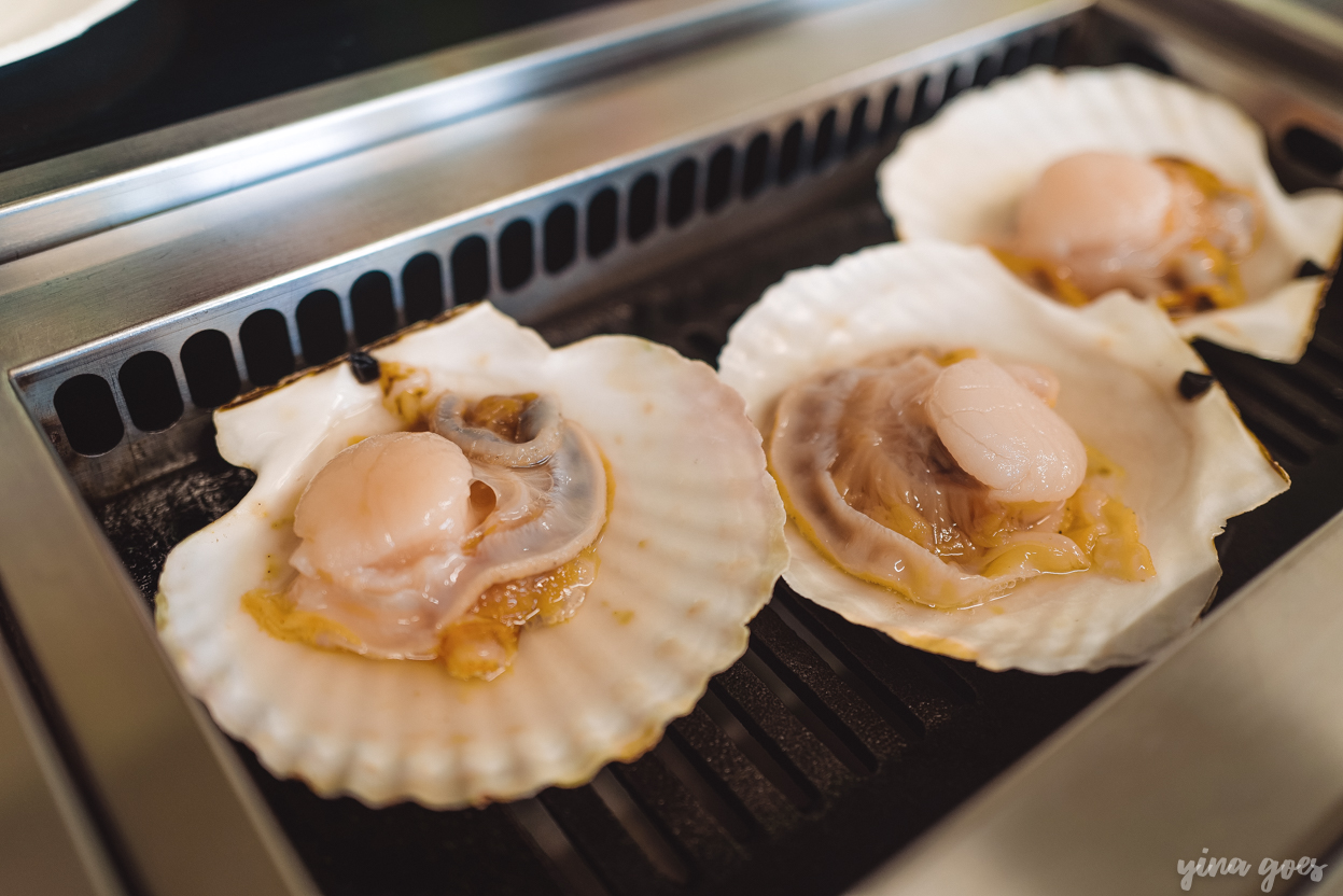 Fresh scallops on the grill, Sarufubetsu Park