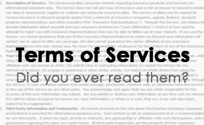 Terms Of Services Did You Ever Read Them Yingying Zhang