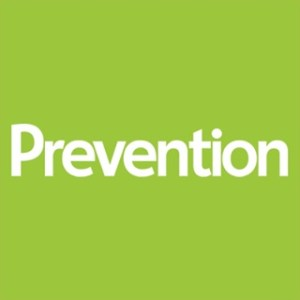 The green logo of Prevention magazine.