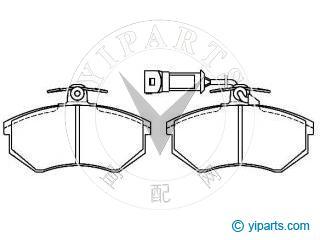 Supply Brake Pad Set(443 698 151 C) for AUDI, AUDI (FAW