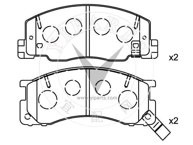 Supply Brake Pad Set(04465-28360) for DAIHATSU, TOYOTA