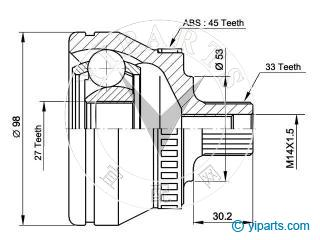 Supply CV Joint Kit(3B0 498 099 B) for AUDI, SKODA