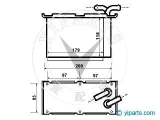 Supply Intercooler(03C 145 749 B) for AUDI, SEAT, SKODA
