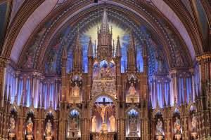 photo of altar Notre-Dame Basilica Montreal