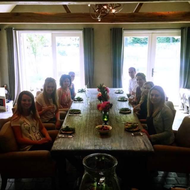 kookworkshop lunch, de hele groep