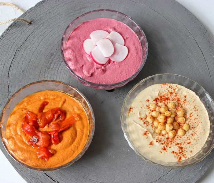 Hummus recept - 3 varianten hummus
