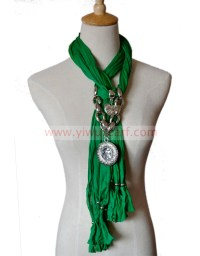 Scarf with Heart Pendant china Scarf