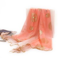 Plain silk chiffon scarves china Scarf