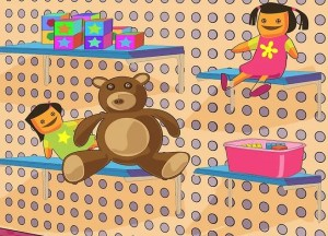 How to Build Toy Storage Shelves